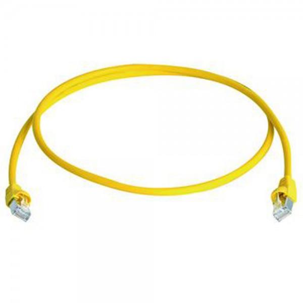 Patchkabel RJ45 S/FTP gelb, Category 6a LSZH