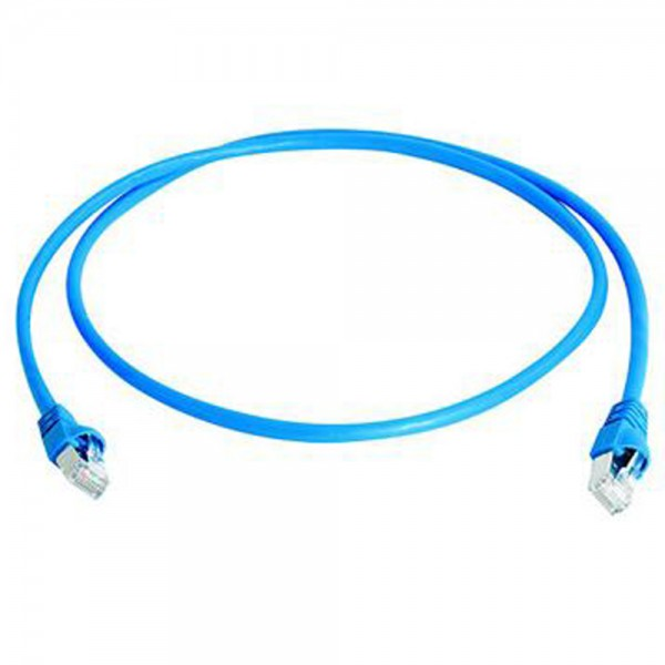 Patchkabel RJ45 S/FTP blau, Category 6a LSZH