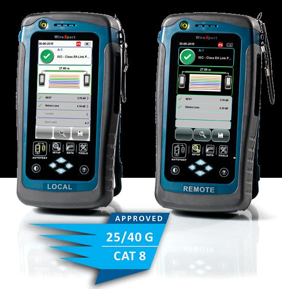 WireXpert 4500, Kabelzertifizierer 2500 MHz